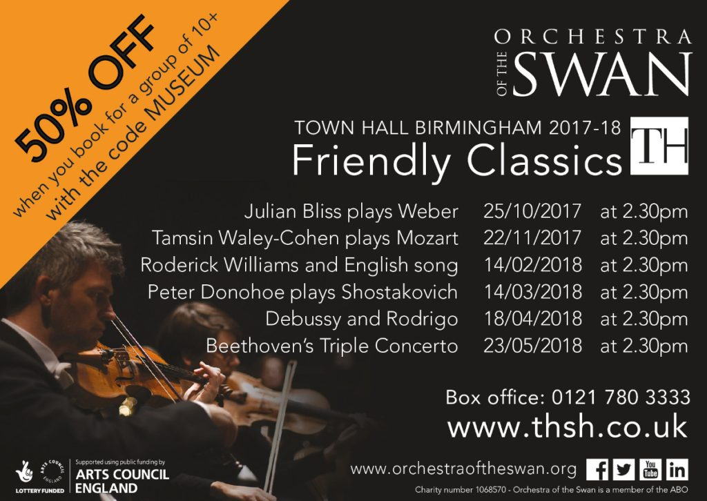 The Orchestra of the Swan offer for the Friends of Birmingham Museums
