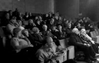 The audience at David Moore's talk 'Weeping Angels' – Photo by Joanna Packwood