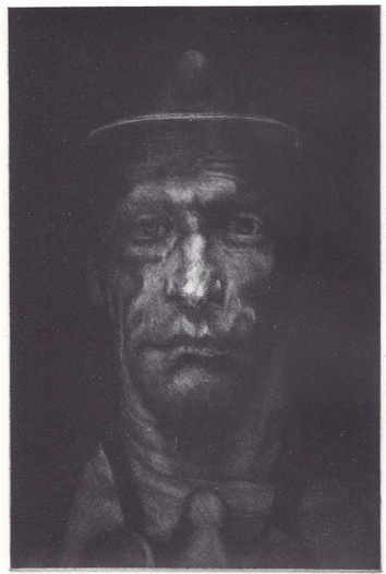 Martin Maywood. Coal Face. Traditional mezzotint engraving